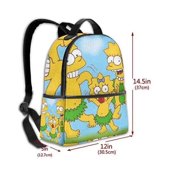 51d5AjPkTaL. SS600  - Anime Cartoon Simpsons - Mochila para Estudiantes, Unisex, diseño de Dibujos Animados, 14,5 x 30,5 x 12,7 cm