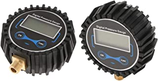 Kesoto Medidor digital de pressão de pneu para carro, motocicleta, 2 peças