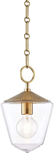 wholesale Hudson Valley Lighting Valley 8308-AGB Transitional One Light Pendant from discount Greene Collection in Brass - Antique high quality Finish online sale