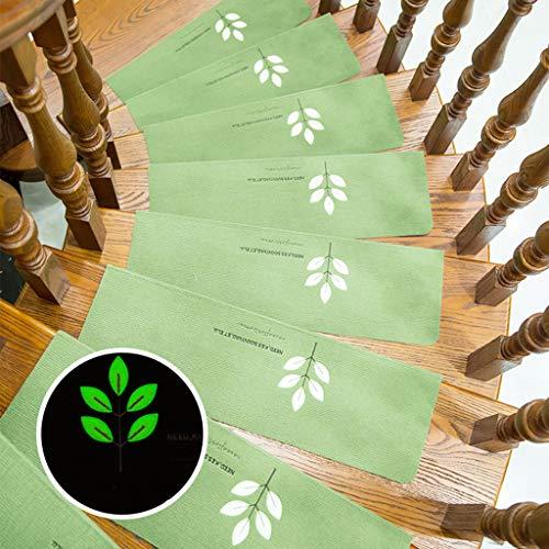 Carpet Stair 15 stuks lichtgevend traptapijt, stap-matten, trapbekleding ingesteld, tapijt-trapbekleding klassieke zelfklevend, klaver met 5 vellen, 70 x 22 x 4,5 cm