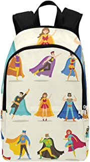 Cute Superhero Kids Casual Daypack Travel Bag College School Backpack for Mens and Women