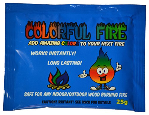 Colorful Fire - Campfire Colorant - Smoke-Free, Odor-Free, Works Instantly - Made in USA (6 Pack)