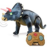 STEAM Life Walking Dinosaur Toy Triceratops Toy Robot Dinosaur Remote Control Dinosaur Toys for Kids 3-5 Light Up Dinosaur - Electronic Dino Toys for Boys and Girls 3 6 8 Year Old Gift Toy for Kids