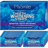MySmile Teeth Whitening Strip, White Strips for Sensitive Teeth, Removes Stains from Smoking, Coffee, Soda, 14 Packs Teeth Whitener Strips for Tooth Whitening, Non-Slip Professional Whitening Strips