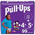 Pull-Ups Boys' Potty Training Pants Training Underwear Size 6, 4T-5T, 99 Ct, One Month Supply by Kimberly-Clark Corp.