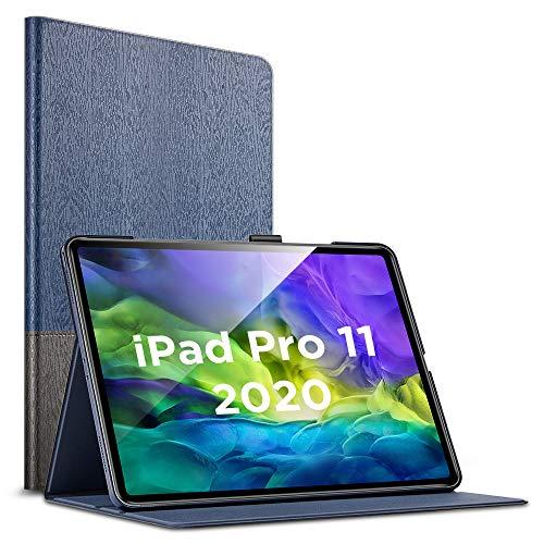 """ESR Funda Premium Folio para iPad Pro 11"""" 2020(2da generación), Compatible Carga Inalámbrica Apple Pencil 2, Diseño Estilo Libro, Múltiples Ángulos de Visión, Modo Automático Reposo/Actividad, Knight"""