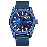 MHCYKJ Reloj de los Hombres Top Famosa Marca Masculino del Reloj de Cuarzo del Reloj del Reloj de Cuarzo Reloj-Relogio Masculino,Azul