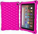 All-New Amazon Kindle Fire HD 8/8 Plus Tablet Case,Snowwicase fire hd 8 Tablet case Light Weight 8 inch case for Kids Case (10th Generation, 2020 Release) (Pink)