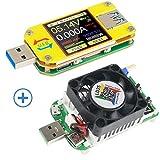 UM34C USB Multimeter Bluetooth USB Tester Spannungsprüfer Voltmeter Amperemeter und USB...