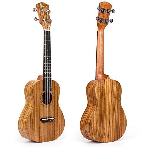 Kmise 26 Inch Tenor Ukulele Uke Hawaii Guitar Musical Instruments Zebrawood Zebra Wood