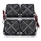 Walfront Refrigerador termoeléctrico de la placa fría de Peltier de la refrigeración del semiconductor del alto rendimiento 240W con el ventilador, negro