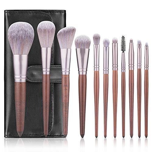HXEMEI Lot de 11 pinceaux de maquillage pour fond de teint, poudre, anti-cernes, ombres à paupières, contour complet