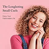 KIPOZI Mini Lockenstab 9mm für kleine Locken, Keramik Klein Lockenstab für Kurze/Mittlere/Lange Haare, Curling Wand mit Handschuhe. - 5