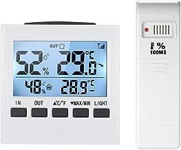 Termómetro Higrómetro Termómetro inalámbrico digital LCD Interior / Termómetro exterior Higrómetro Temperatura Temperatura Humedad Medidor Máx Min Value Pantalla Digital Termohigrómetro