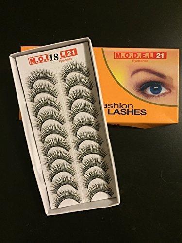 MODEL 21 False Fashion Eyelashes No. 1, 8, 12, 18, 19, 26, 27, 29, 37 (10 Pairs) by MODEL 21