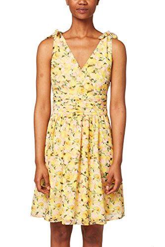 ESPRIT Collection Damen 048EO1E024 Kleid, Gelb (Yellow 750), 38