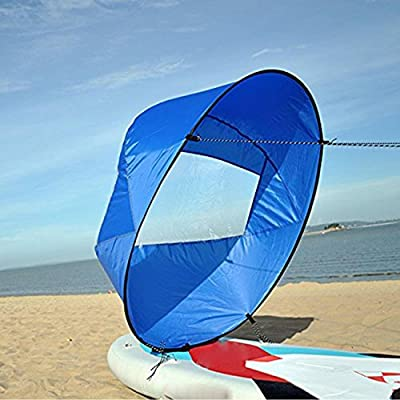 """Dyna-Living 42"""" Durable Downwind Wind Sail Sup Paddle Board Instant Popup Kayak Boat Sailboat Canoe Foldable Style"""