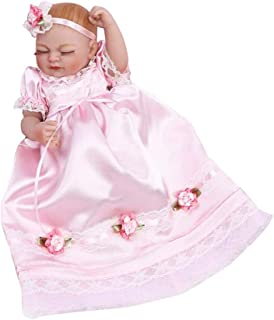 Baoblaze Real Life 11inch Reborn Baby Girl Doll Newborn Size Fake Toddler Doll – Hand Drawing Mohair Hair and Hand-Drawn Nails