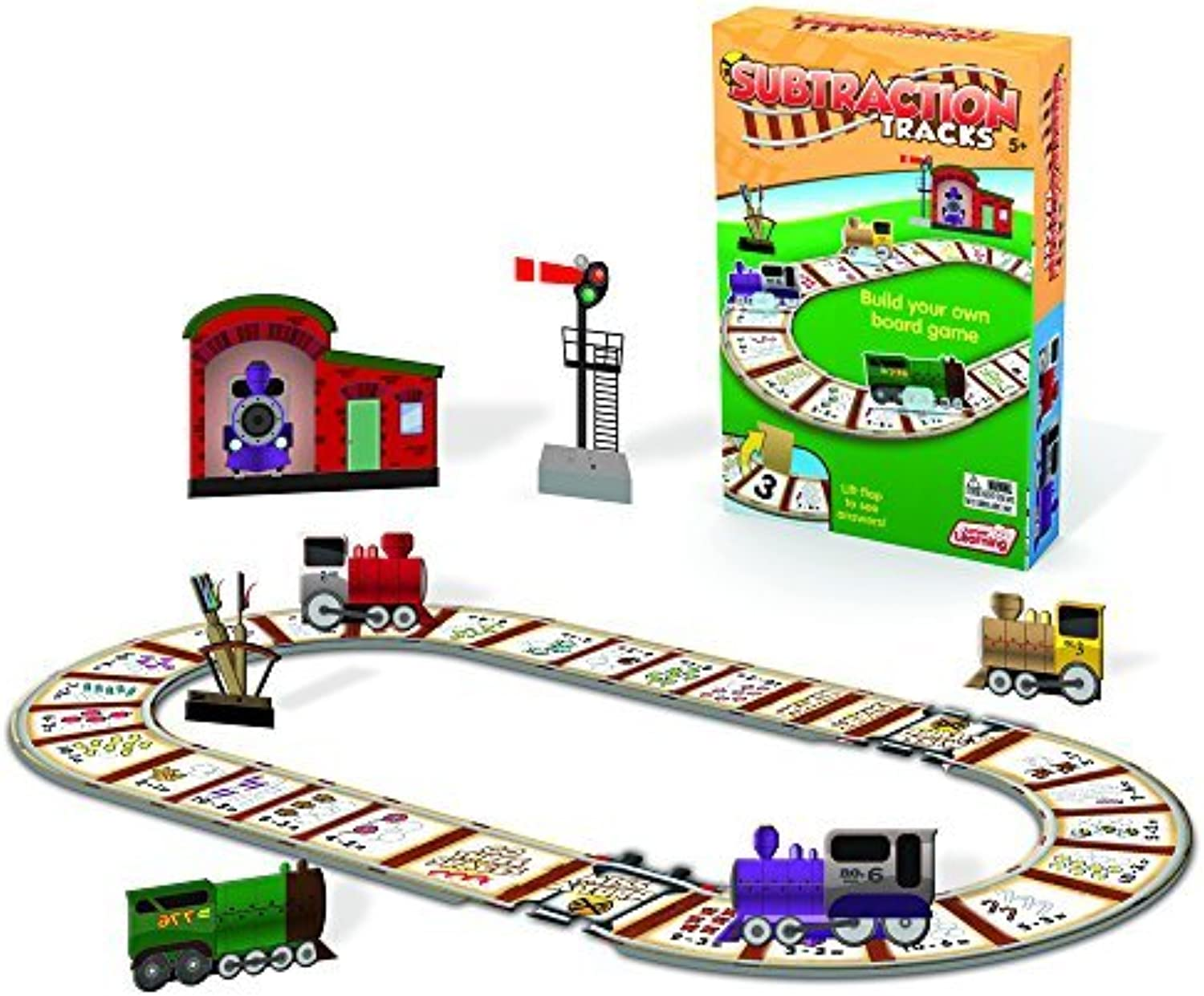 Subtraction Tracks Card Game by Junior Learning