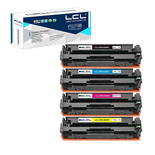 LCL Cartucho de tóner Compatible 054 CRG054 CRG-054 3023C0021 3023C0022 3023C0023 3023C0024(4Pack KCMY) Reemplazo para Canon...