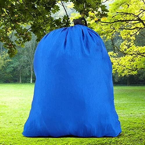 SALUTUYA Cama Colgante para Exteriores, diseño Compacto, Cama Colgante Duradera para jardín, Patio, Porche de Parque(Navy Blue)