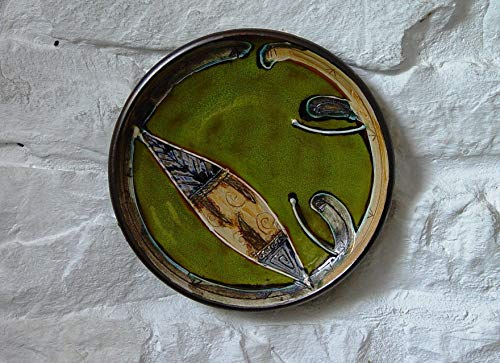 Green Ceramic Wall Hanging Plate