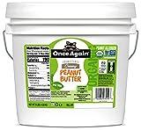 Once Again Organic Creamy Peanut Butter, 9lbs - Salt Free, Unsweetened - USDA Organic, Gluten Free Certified, Vegan, Kosher