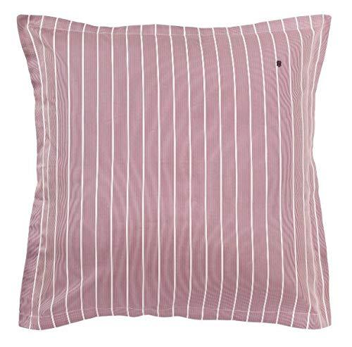 Tommy Hilfiger Bettwäsche Satin Kissenhülle Gestreift 40x80 cm Farbe Bordeaux