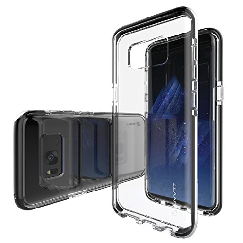 Galaxy S8 Case, LUVVITT [PROOFTECH] Shockproof Impact Resistant Protective TPE Shock Absorption Bumper Flexible Case for Galaxy S8 - Clear/Black
