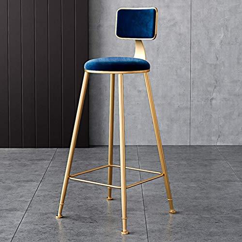 MTCGH Stühle, Hochstühle, Barstühle, Hocker Rund Barhocker Polster-Küchenstuhlzähler Pub Bistro Rückenlehne Fußstütze,65 cm,65 cm