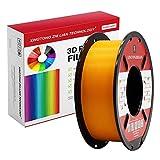 Filamento PLA para impresora 3D de 1,75 mm, filamento de impresión 3D PLA para impresora 3D y bolígrafo 3D, precisión dimensional +/- 0,02 mm, 1 kg 1 bobina(naranja)