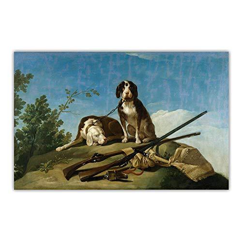Francisco Goya 《Perros En La Correa》 Lienzo Arte óLeo P