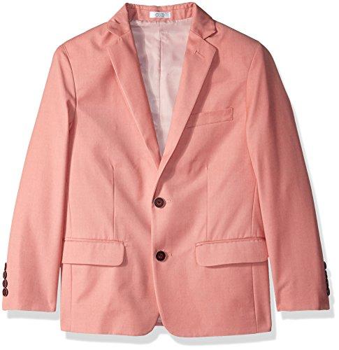 PYJTRL Mens Fashion Velvet Suit Jacket Slim Fit Blazers (Pink, 42)