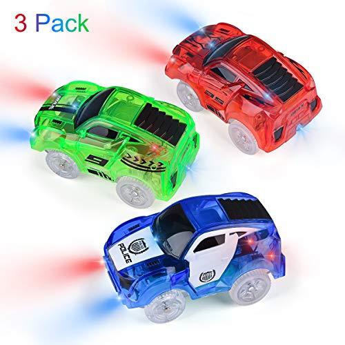 AniSqui Voiture de Course Pack de 2 avec 5 lumi/ères Clignotantes LED Jouets Magiques by Voiture de Police, Voiture de Camion de Pompier