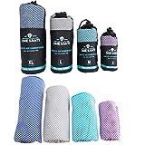 One Santi Reisehandtuch - Unsere Bambus Handtücher als Top Backpacker Zubehör - Reisehandtuch schnelltrocknend & kompakt - Dein Travel Towel für unterwegs