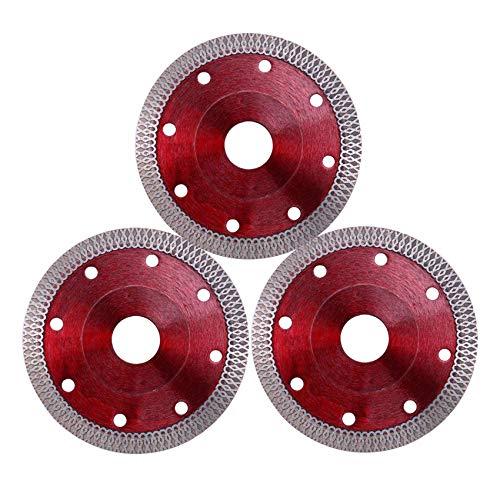 Heritan 3 piezas de 4 pulgadas de diamante de corte de la hoja de sierra de disco para cortar baldosas de porcelana funciona con la sierra de azulejos y ángulo Grinde