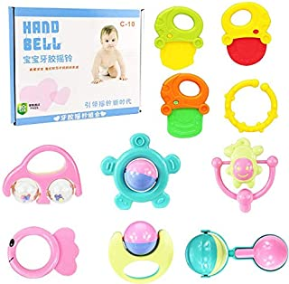 Baby Toys Hand Hold Jingle Shaking Bell Baby Teether Lovely Hand Shake Bell Ring Newborn Baby Educational Gifts Baby Rattl...
