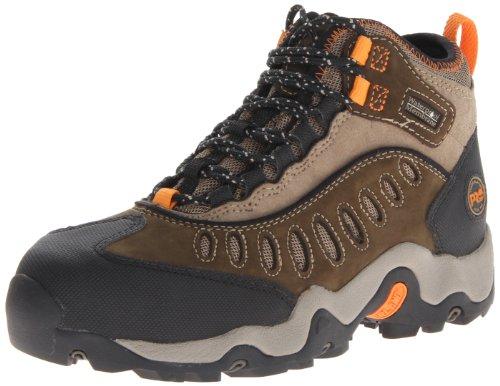 Timberland Pro - Herren Mudslinger Mid Steel Sicherheitsschuh Wasserdichter Schuh, 45 EU, Dark Brown