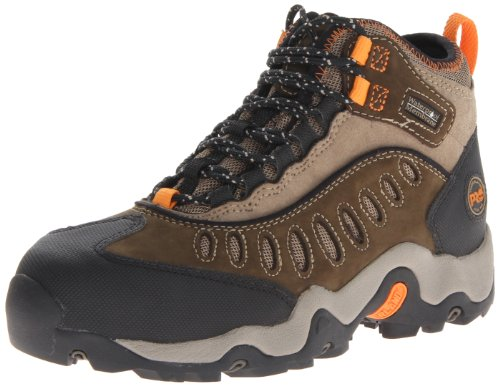 Timberland PRO Men's Mudslinger Mid Waterproof Lace-Up Fashion Sneaker,Brown Nubuck,10.5 W US