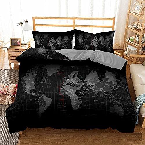 Bedclothes-Blanket Funda nórdica Funda de Colcha,Cama 3D Single Ropa de Cama Edredón Set Reloj de Tres piezas-200 * 200_2