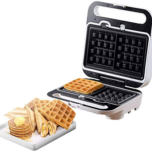Sale!! Waffle Multifunctional Sandwich And Waffle Maker With Non-Stick,Easy Clean Removable Plates,A...