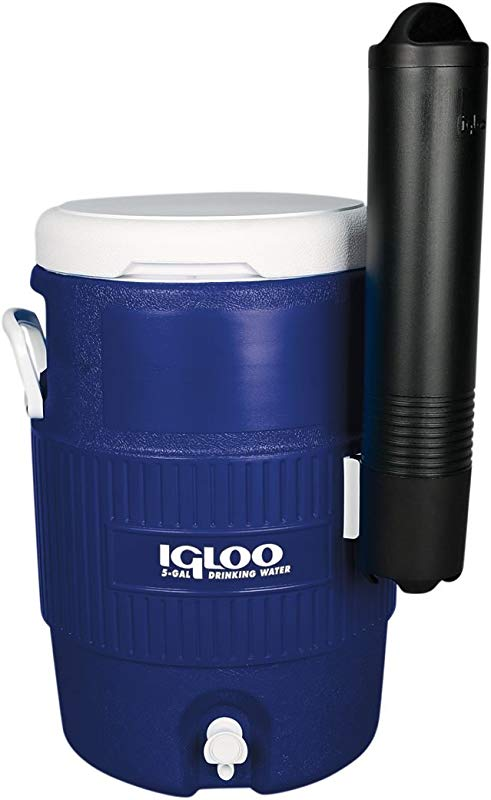 Igloo Seat Top Beverage Cooler With Cup Dispenser 5 Gallon Ocean Blue