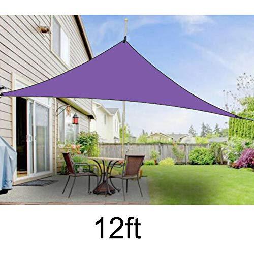 Xihuanni Sonnensegel Sonnenschutz Dreieck Markise Vordach UV Schutz Baldachin Outdoor Schatten Dreieck regendicht Sonnenschutz Sonnensegel für Outdoor Garten Terrasse Party, violett, 12ft*12ft*12ft