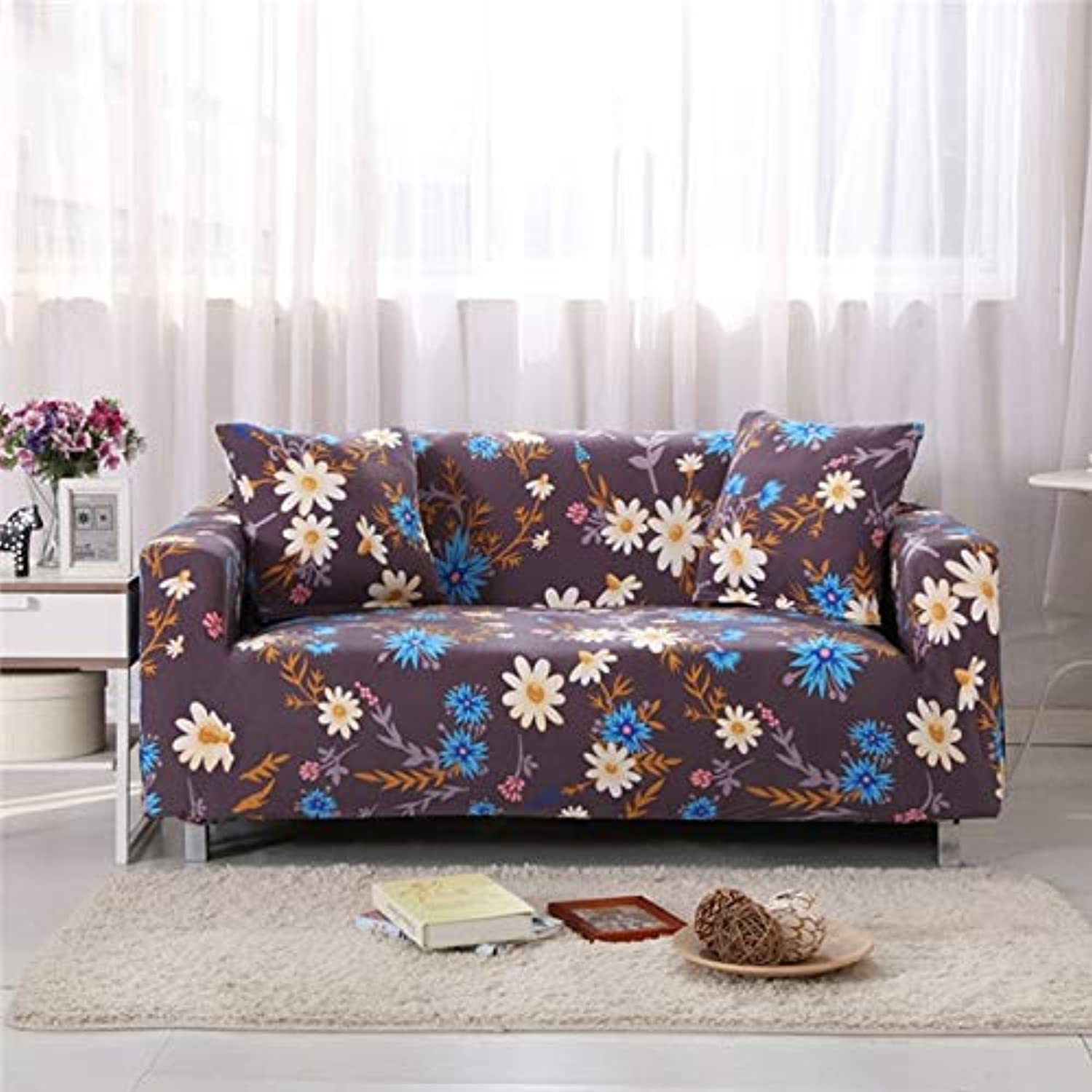 Flamingo Printing Elastic Spandex All-Inclusive Slipcovers Corner Sofa Cover Sectional Sofa Cover Stretch Predective Couch Cover   8, Single Seater