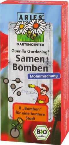 Aries, Samenbomben Mohnmischung für `Guerilla Gardening` , 8 St.