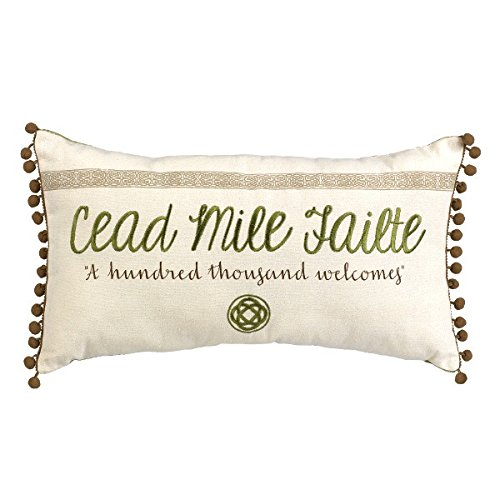 Grasslands Road Celtic Traditions 'Cead Mile Failte' Pillow (473077)