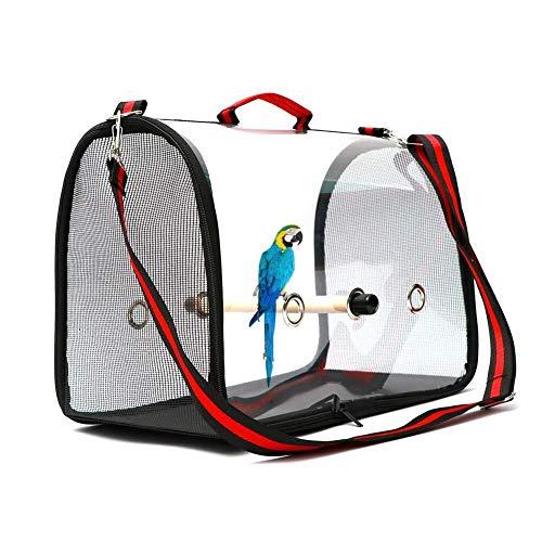 Zamishen Sacs pour animaux Portador de pájaros Jaula de Viaje de pájaros Ligero PVC Transparente Bolsa de Transporte de pájaros Transpirable Bolso de Loro