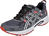 ASICS Men's Gel Venture 5 Trail Running Shoe, Castle Rock/Silver/Fiery Red, 11.5 M US