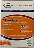 Camber Allergy Relief Levocetirizine Dihydrochloride Tablets, USP | 24 Hour Allergy Relief | 5 mg | 35 Count
