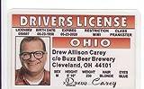 Drew Carey Novelty licencia de conducir / identificación falsa para los fanáticos